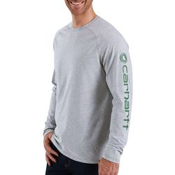 Carhartt Mens Logo Raglan Long Sleeve T-Shirt