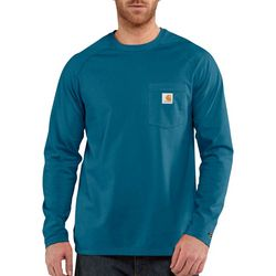 Carhartt Mens Force Cotton Delmont Long Sleeve T-Shirt