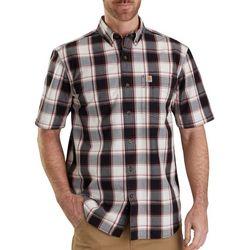 Carhartt Mens Essential Plaid Tartan Short Sleeve Shirt