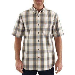 Carhartt Mens Essential Plaid Short Sleeve Shirt