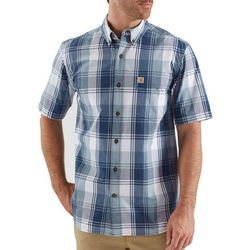 Carhartt Mens Essential Plaid Button Down Shirt