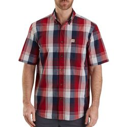 Carhartt Mens Essential Plaid Pocket Short Sleeve Shirt