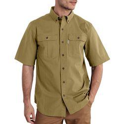 Carhartt Mens Force Foreman Solid Short Sleeve Shirt