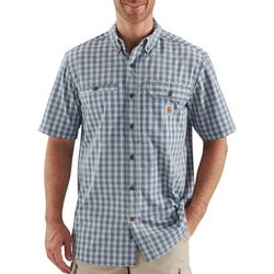 Carhartt Mens Force Ridgefield Plaid Short Sleeve Shirt