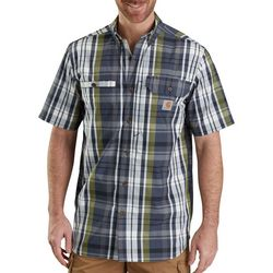 Carhartt Mens Force Ridgefield Plaid Pocket Shirt