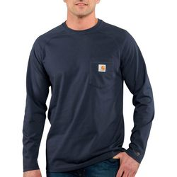 Carhartt Mens Force Cotton Delmont Long Sleeve T-Shirt