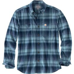 Carhartt Mens Rugged Flex Hamilton Plaid Long Sleeve Shirt