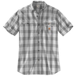 Carhartt Mens Force Ridgefield Glen Plaid Short Sleeve Shirt