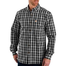 Carhartt Mens Essential Plaid Print Long Sleeve Shirt