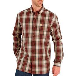 Carhartt Mens Essential Plaid Long Sleeve Shirt