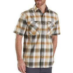 Carhartt Mens Rugged Flex Bozeman Plaid Short Sleeve Shirt