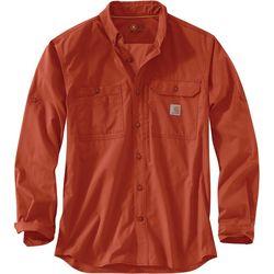 Carhartt Mens Force Ridgefield Solid Long Sleeve Shirt