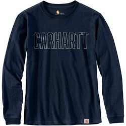 Carhartt Mens Workwear Block Logo Long Sleeve T-Shirt