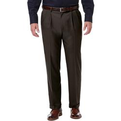 Mens Premium Comfort Classic Fit Pleated Pants