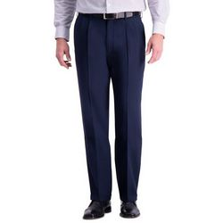 Haggar Mens Premium Comfort Classic Fit Pleated Pants