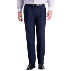 Haggar Mens Premium Comfort Classic Fit Pleated Pants