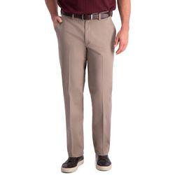 Haggar Mens Premium Comfort Khaki Classic Fit Pant