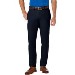 Haggar Mens Cool 18 PRO Slim Fit Flat Front Pants