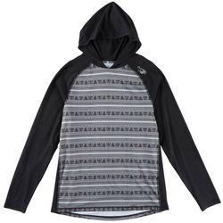 Maori Hook Mens Performance Polynesian Stripe Hooded T-Shirt