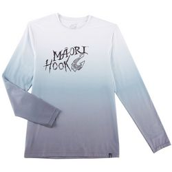 Maori Hook Mens Ombre Long Sleeve Performance T-Shirt