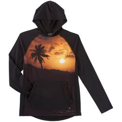 Maori Hook Mens Dark Sunset Performance Hooded T-Shirt