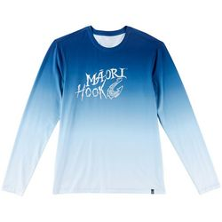 Maori Hook Mens Performance Ombre Crew T-Shirt