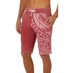 Maori Hook Mens Textured Washed Shorts