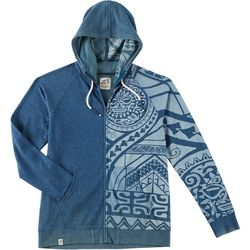 Maori Hook Mens Stone Wash Zipper Hoodie