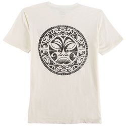 Maori Hook Mens Washed Up Circle Back T-Shirt