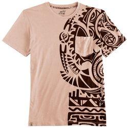 Maori Hook Mens Tribal Graphic Pocket T-Shirt