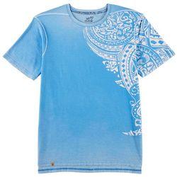 Maori Hook Mens Stoner Acid Wash Graphic T-Shirt