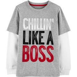Carters Little Boys Chillin' Like a Boss Long Sleeve T-Shirt