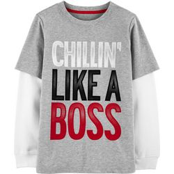 Carters Little Boys Chillin' Like a Boss Long Sleeve T-Shirt