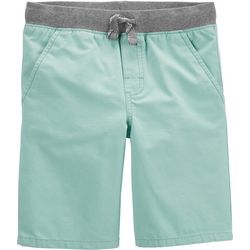 Carters Little Boys Solid Dock Pull-On Shorts