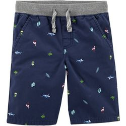 Carters Little Boys Beach Dock Pull-On Shorts