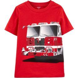 Carters Little Boys Fire Truck Short Sleeve T-Shirt