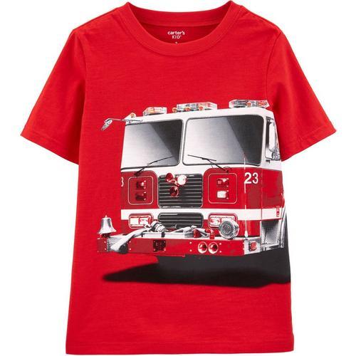 7a74c645f Carters Little Boys Fire Truck Short Sleeve T-Shirt | Bealls Florida