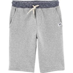 Carters Little Boys Heathered Knit Pull-On Shorts