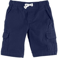 Carters Little Boys Solid Pull-On Cargo Shorts