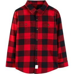 Carters Little Boys Buffalo Plaid Button Down Shirt