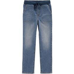Carters Little Boys Faded Knit Waist Pull-On Jeans