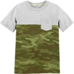 Carters Little Boys Camouflage Colorblock T-Shirt