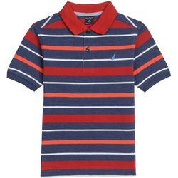 Nautica Little Boys Striped Print Polo Shirt