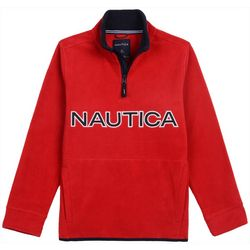 Nautica Little Boys Logo Quarter Zip Jacket