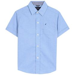Nautica Little Boys Textured Woven Button Down Shirt