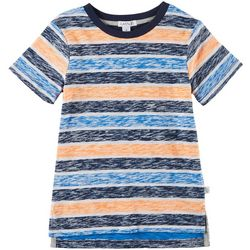 Flapdoodles Toddler Boys Heathered Stripe T-Shirt