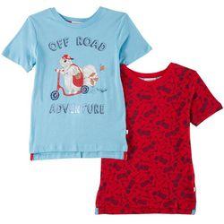 Flapdoodles Little Boys 2-pk. Off Road T-Shirts
