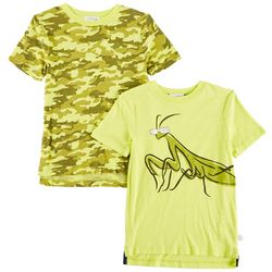 Flapdoodles Little Boys 2-pk. Camo & Praying Mantis T-Shirts