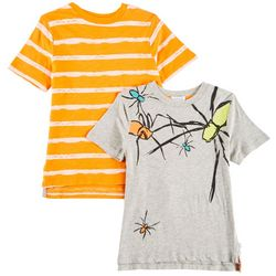 Flapdoodles Little Boys 2-pk. Spider & Striped T-Shirts