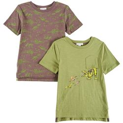 Flapdoodles Little Boys 2-pk. Dinosaur T-Shirts